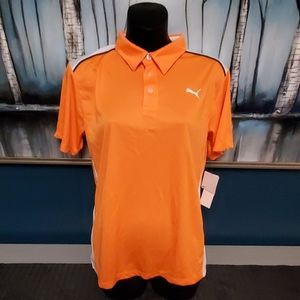 Orange YLg Puma sport lifestyle short sleeve shirt